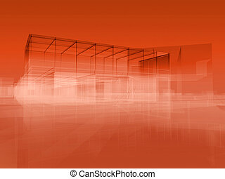 City red - Structural orange red background