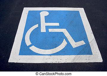 Handicap Parking Spot - The familiar handicaped icon,...