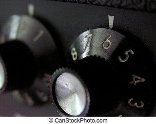 Fender Amp--detail - Knobs on a Fender Amp