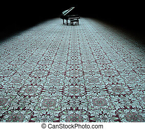 elhagyott, zongora
