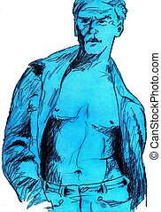 Sexy man - Illustration of sexy man - I am author of this...