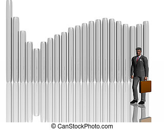 Businessman illustration over white. - Businessman over...