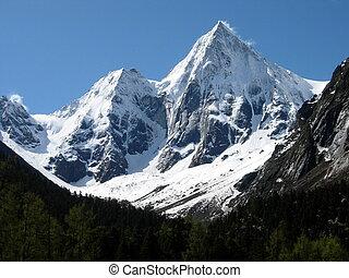 Twin Peaks - Two snow covered peaks