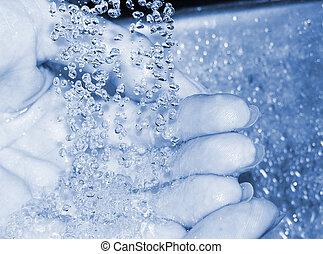 lavando, mãos
