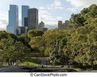 Central Park - This is a late Summer shot of Central park in...