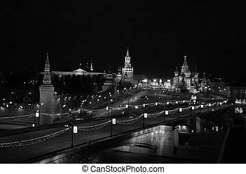skyline moscow - moscow christmas time