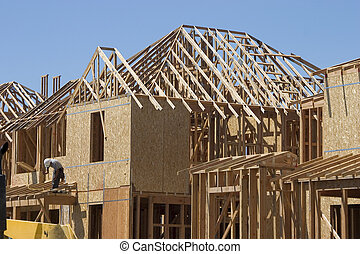 Home Construction - A home takes shape.