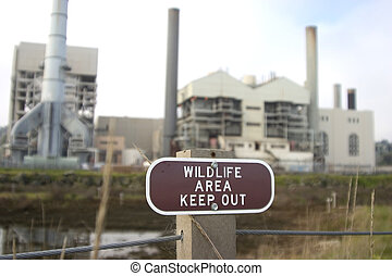 Industrial Irony #4 - A wildlife area contains a large...