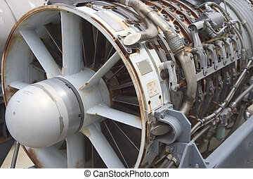 Jet Engine 2 - A jet engine thats been removed from a jet...
