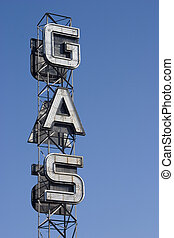 Gas Sign 1 - An industrial looking sign for a gas station...