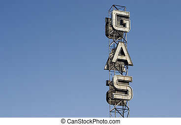Gas Sign 4 - An industrial looking sign for a gas station...