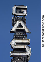 Gas Sign 6 - An industrial looking sign for a gas station...