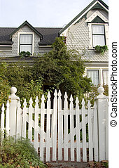 Picket Fence Entry - Picket fence entry gate leads to an...
