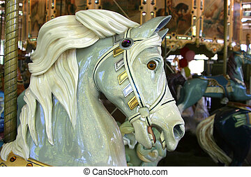 Merry-Go-Round 2 - A close view of one of the painted horses...