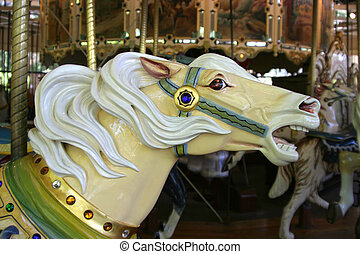 Merry-Go-Round 3 - A close view of one of the painted horses...