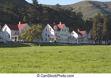 Military Housing #1 - A row of officer quarters in Marin...