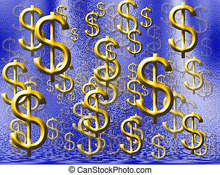 Money Rain - Dollar symbols raining down
