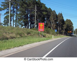 Multiple Road Signs - These road signs are on the Hume...