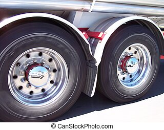 Moving Truck Tyres - This photo was taken out of the car...