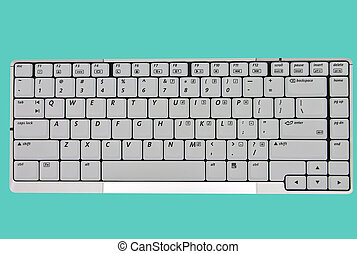 QWERTY - Keyboard section of notebook
