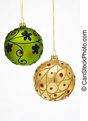 Christmas Tree Balls - Weihnachtskugeln - two very beautfiul...