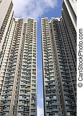 Hong Kong residents - Residential area in Hong Kong