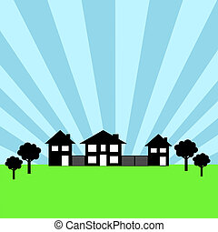 Real Estate - Real estate background