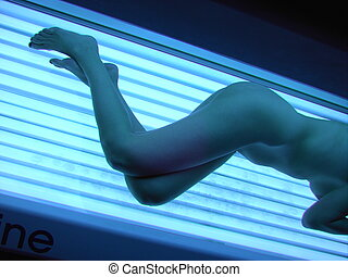 curves and stripes - tanning girl