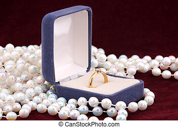 Engagement Ring in a Jewellery Box