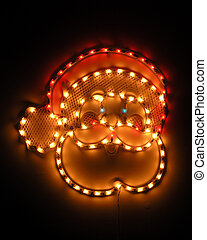 Santa Lit Up - Anta claus decoration lights