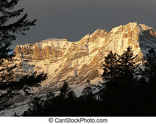 Banff Daybreak - Cascade Mountain in dawns early light Banff...