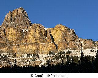 Castle Mountain in Winter