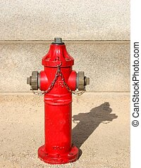 Fire hydrant - Red fire hydrant