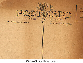 Antique Postcard - A scan of a postcard from the early 20th...