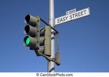 fácil, calle, verde, luz