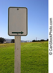 Blank Scenic Sign - A blank sign points to who knows what...