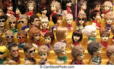 Wigs of different kind Better in lower resolution Taken at...