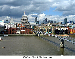 London View - A view from Modern Tate art gallery on St...
