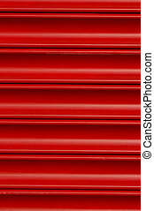 Roller Security Shutters 05 - Bright red roller security...