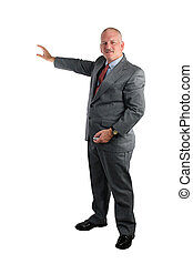 Businessman Giving Presentation - A handsome, mature...