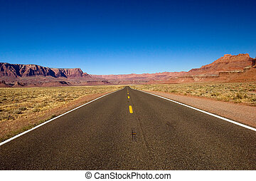 Lonely road - Empty Arizona highway