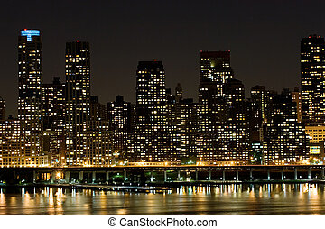 Mahnattan East side - Apartment highrises on Manhattans East...