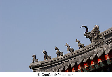 Decoration on a roof - Decoration on a chinese roof