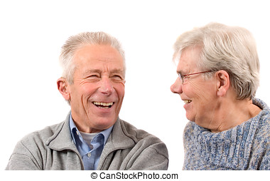 Happy senior couple - Happy elderly couple laughing