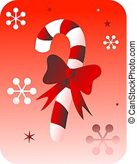 retro candy - red candy cane design