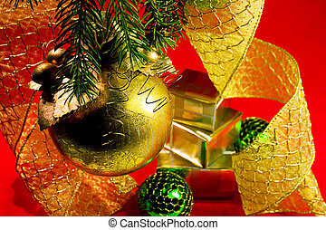 Merry Christmas (2) - Christmas decorations and presents on...