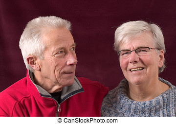 Handsome older couple - Happy elderly couple