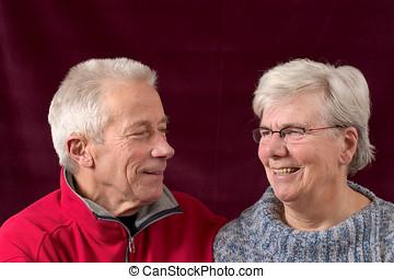Happy senior couple - Happy elderly couple