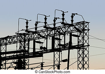 Power Grid 1 - Detail of a power distribution substation