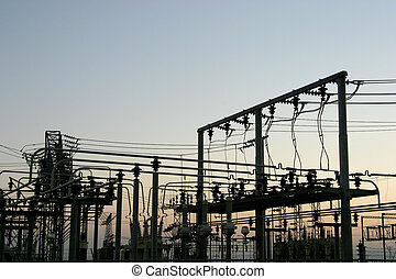 Power Grid #4 - Detail of a power distribution substation.